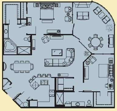 1,422 sq. ft. H floor plan
