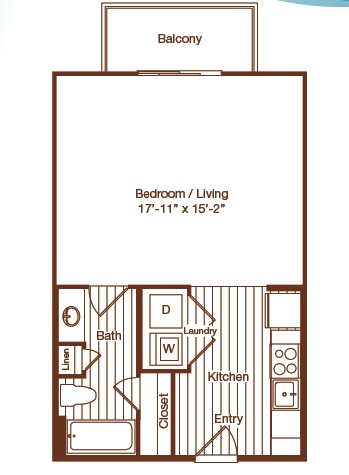 524 sq. ft. floor plan