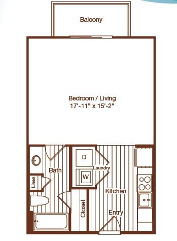 524 sq. ft. floor plan