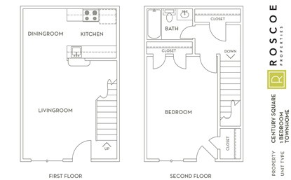 776 sq. ft. E floor plan