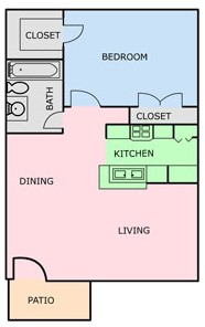 649 sq. ft. E floor plan
