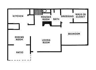 869 sq. ft. A4 floor plan