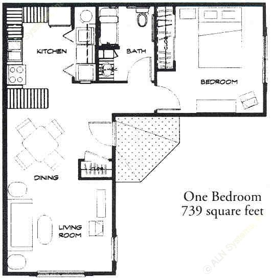 739 sq. ft. 50 floor plan