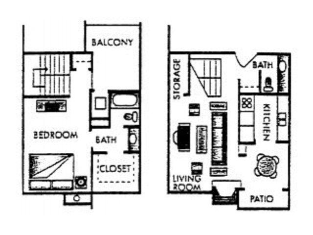 850 sq. ft. Nicholson floor plan