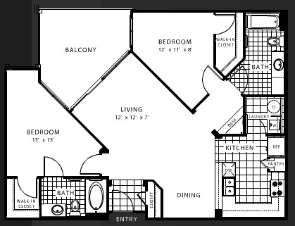 996 sq. ft. B3 floor plan