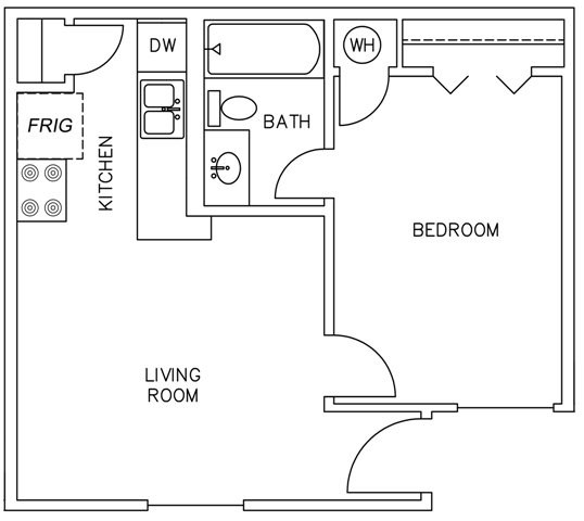 533 sq. ft. floor plan