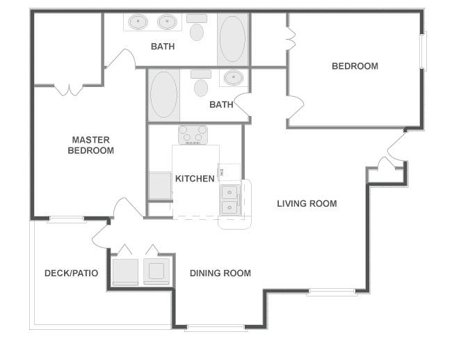 1,084 sq. ft. TELLURIDE floor plan