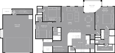 1,578 sq. ft. C3 floor plan