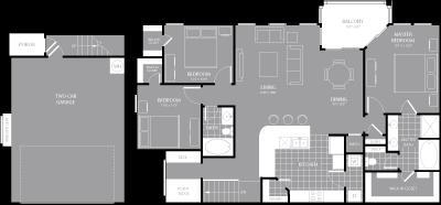 1,578 sq. ft. C3 floor plan
