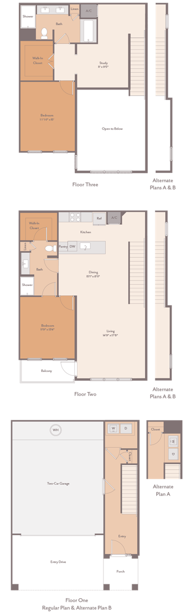1,838 sq. ft. Tanglewood-B1 floor plan