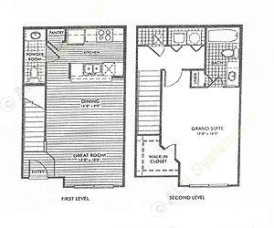 822 sq. ft. Cypresswood/50% floor plan