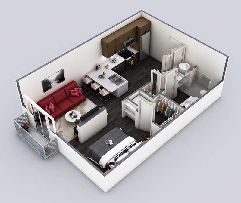 572 sq. ft. Minimalist Edit floor plan