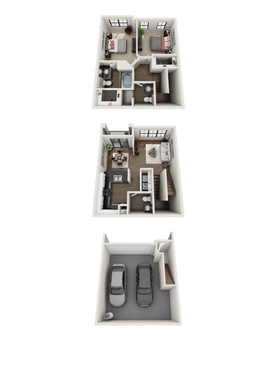 1,144 sq. ft. Limestone floor plan