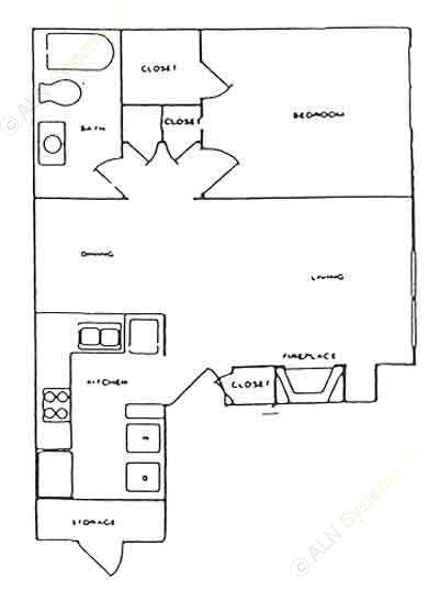 559 sq. ft. C floor plan