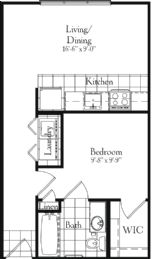 503 sq. ft. floor plan
