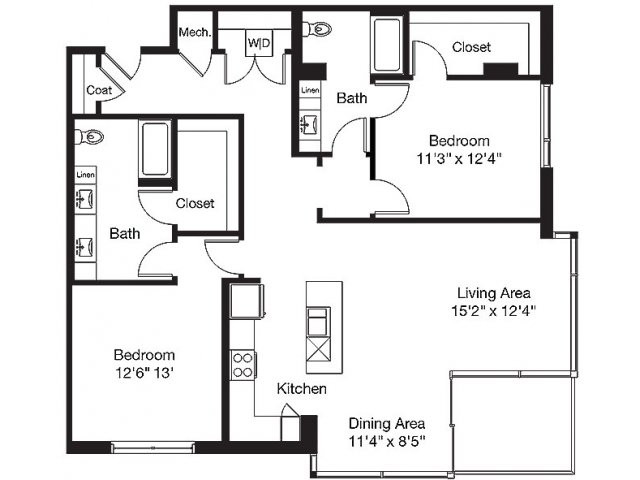 1,475 sq. ft. TC floor plan