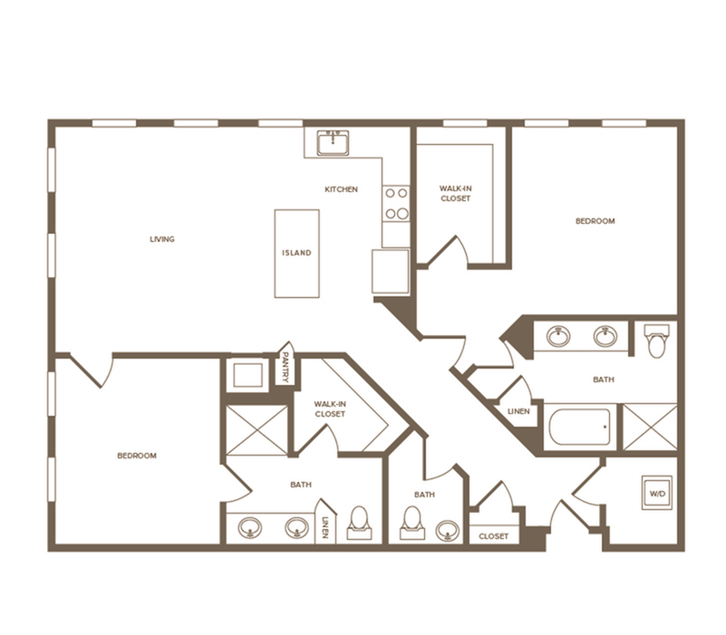 1,352 sq. ft. B7 floor plan