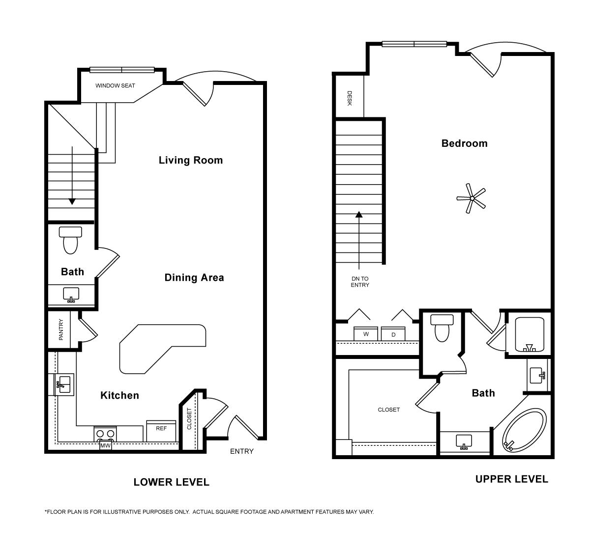1,183 sq. ft. San Marino floor plan