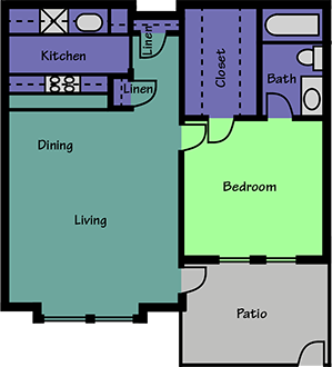 626 sq. ft. floor plan