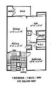 799 sq. ft. floor plan