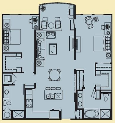 1,167 sq. ft. G floor plan
