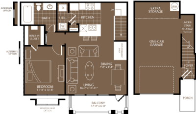 787 sq. ft. Los Angeles floor plan