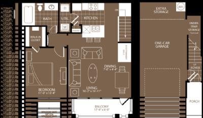 787 sq. ft. Los Angeles floor plan