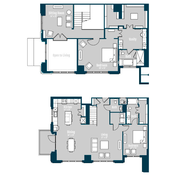2,625 sq. ft. PH 3 floor plan