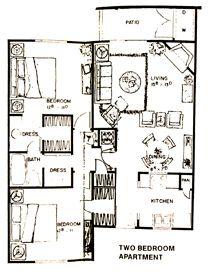 948 sq. ft. floor plan