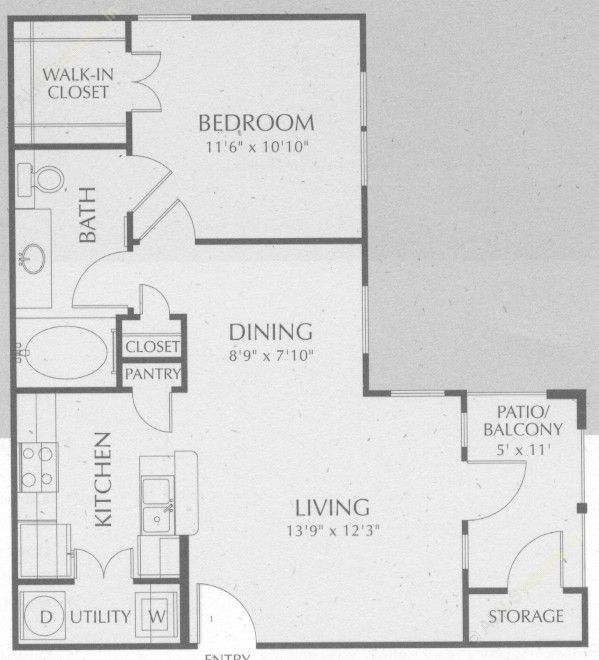 649 sq. ft. Brazos floor plan
