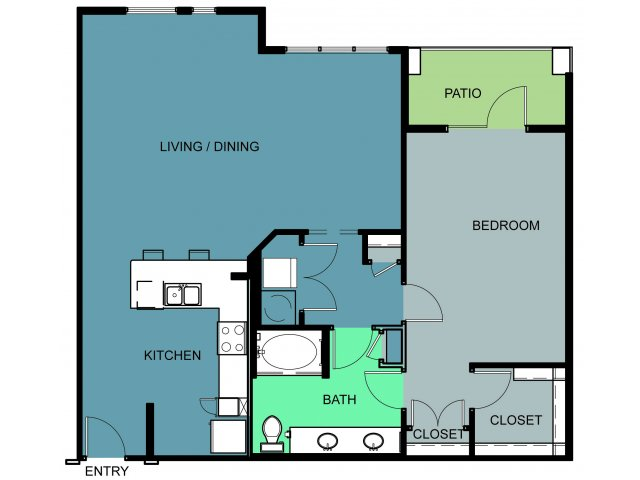 1,158 sq. ft. Waggoner floor plan