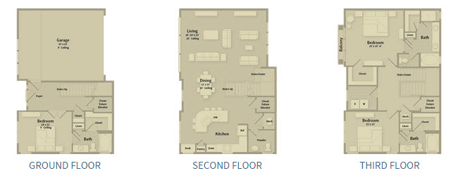 2,460 sq. ft. T2k floor plan