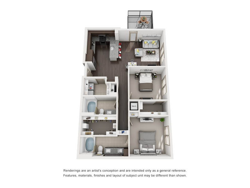 1,178 sq. ft. B11 floor plan