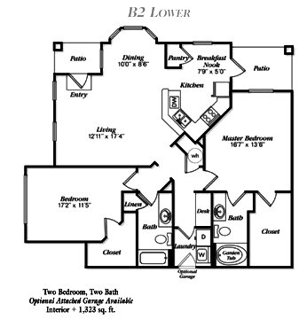 1,323 sq. ft. B5 floor plan