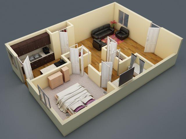 682 sq. ft. floor plan