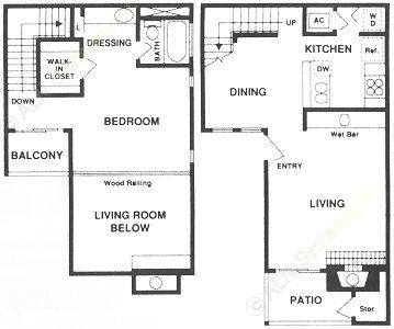 832 sq. ft. ATH floor plan
