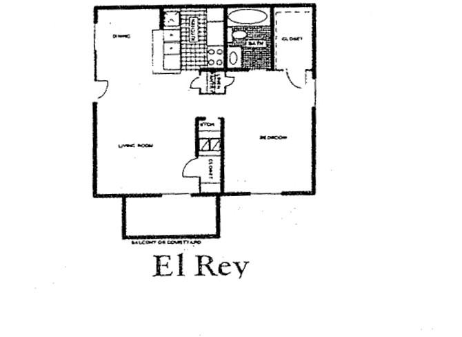 758 sq. ft. 60% floor plan