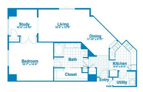 1,193 sq. ft. AT3.1 floor plan
