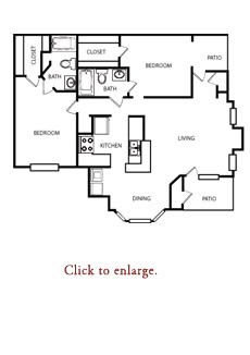 1,089 sq. ft. D floor plan