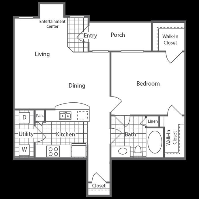 762 sq. ft. Annandale floor plan