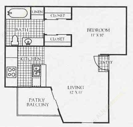 547 sq. ft. 3A1 floor plan