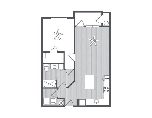 830 sq. ft. Peruvian floor plan