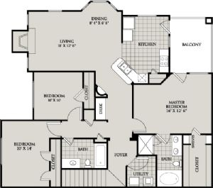 1,467 sq. ft. D4 floor plan