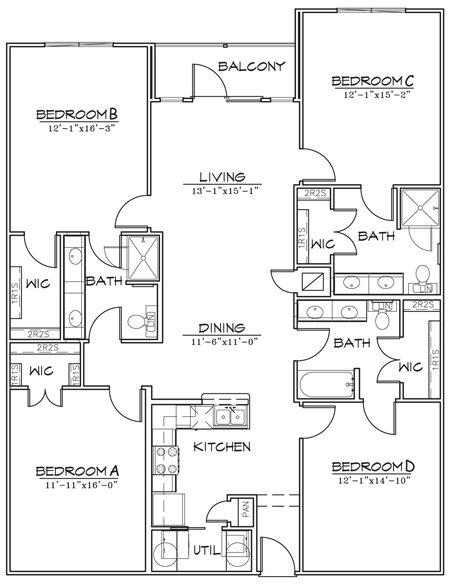 1,692 sq. ft. floor plan
