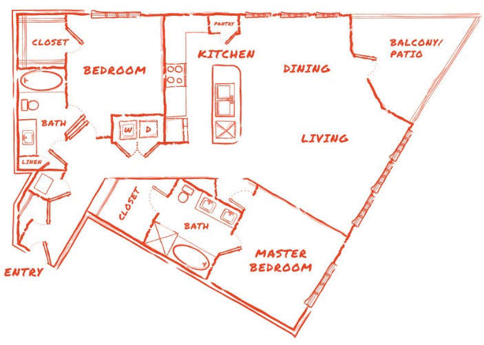 1,427 sq. ft. B7 floor plan