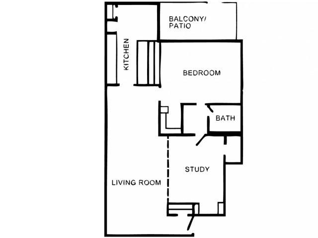1,024 sq. ft. A4 floor plan