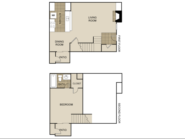 785 sq. ft. Lake Fork floor plan