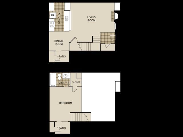 785 sq. ft. Lake Fork floor plan