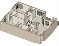993 sq. ft. 50 floor plan