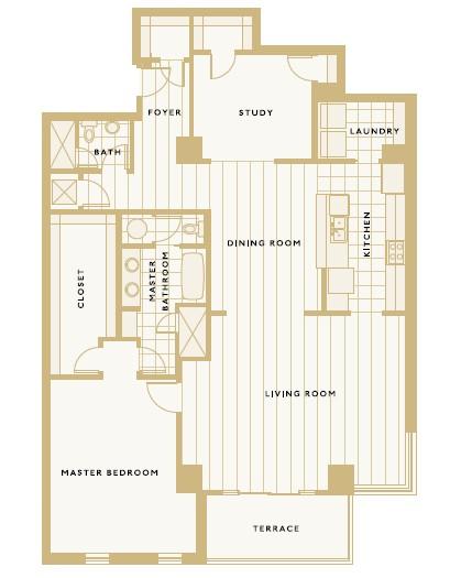 1,858 sq. ft. E floor plan